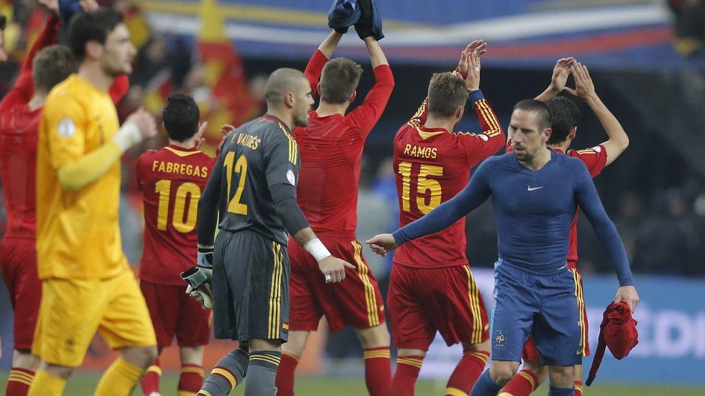 Los jugadores españoles agradecen el apoyo de la afición