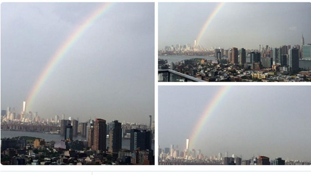 arcoiris, One World Trade Center, 11/9, atentados torres gemelas, atentados Nueva York