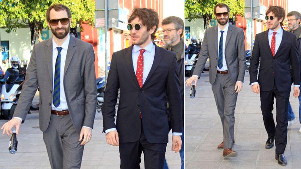 Quim Gutiérrez y Julián Villagrán, muy elegantes con traje