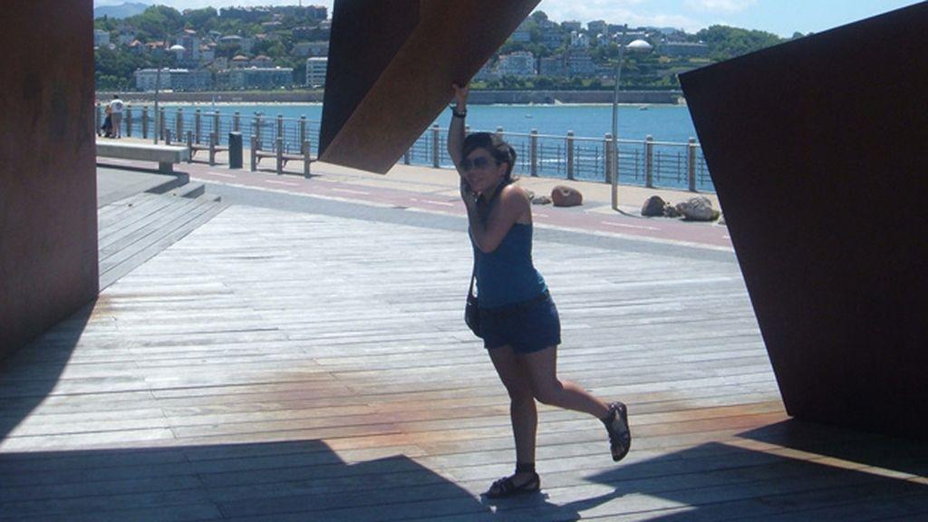 Alba Moreno Martínez disfrutando del atardecer en la playa