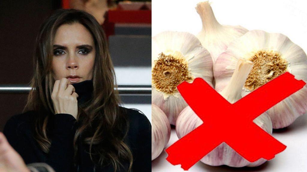 Victoria Beckham no le gusta los ajos