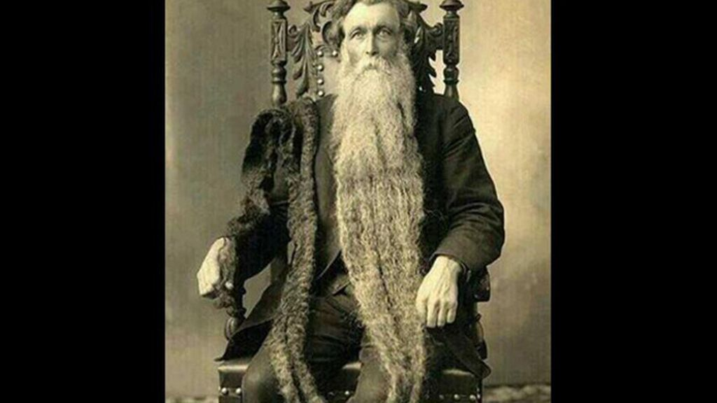La barba más larga de la historia medía 1,4 metros. Su propietario un día tropezó con ella y se rompió el cuello, en 1867