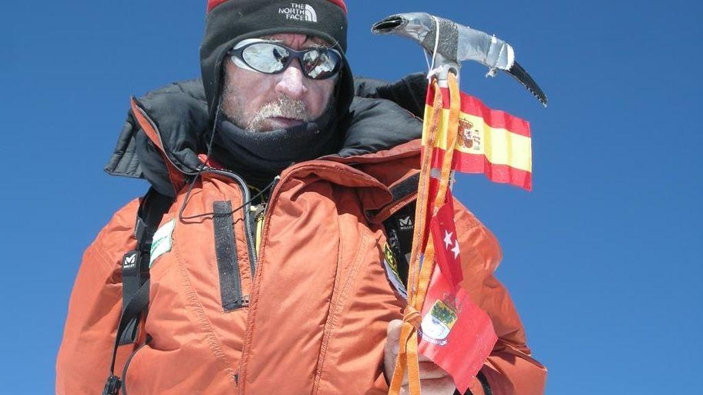 El alpinista Carlos Soria