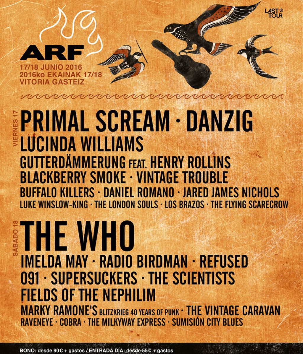 Fields of the Nephilim y The Vintage Caravan cierran el Azkena Rock Festival