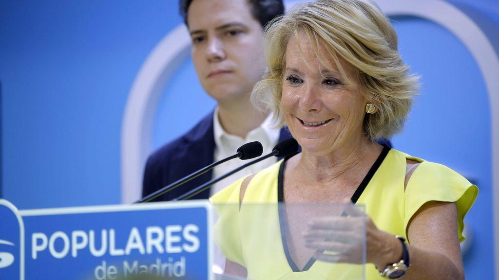 Aguirre durante el Comité de Dirección del PP regional