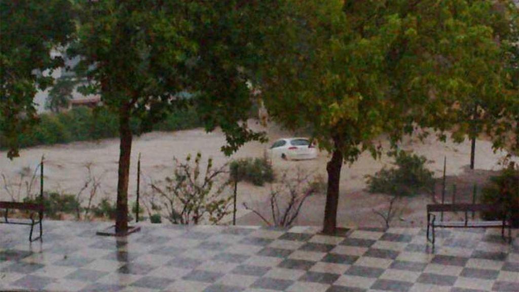 Lluvias torrenciales en Villanueva del Trabuco (Málaga)