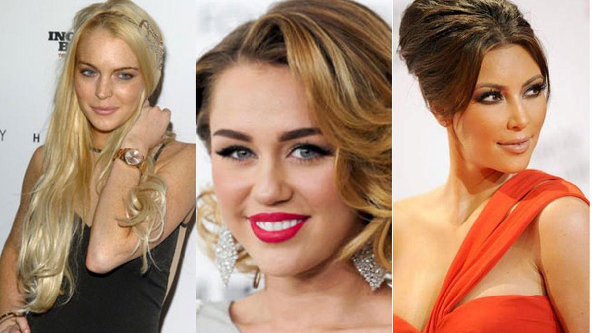 Lindsay Lohan, Miley Cyrus y Kim Kardashian, obsesionadas con el bótox