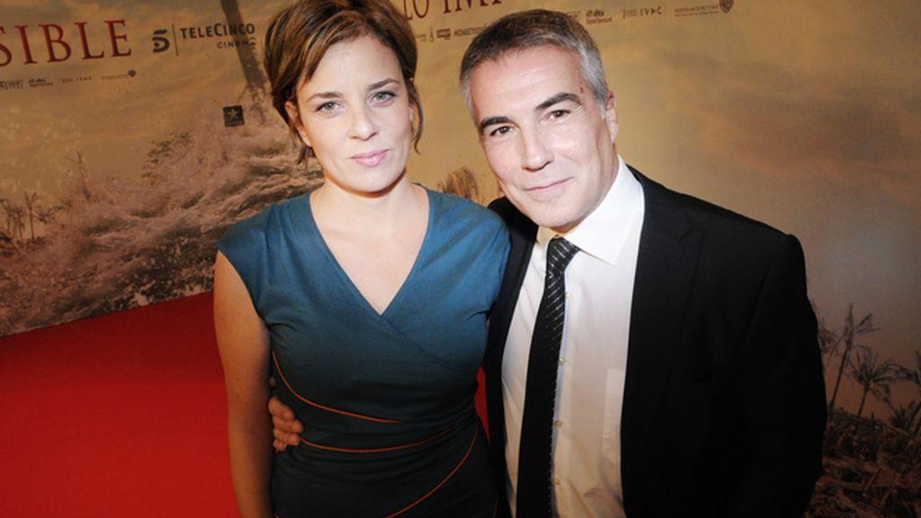 David Cantero y su mujer