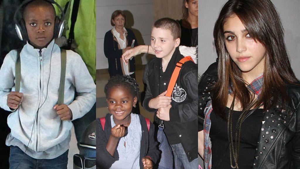 David, Mercy, Roco y Lourdes María, los hijos de Madonna