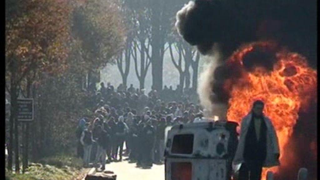 Las protestas provocan graves disturbios