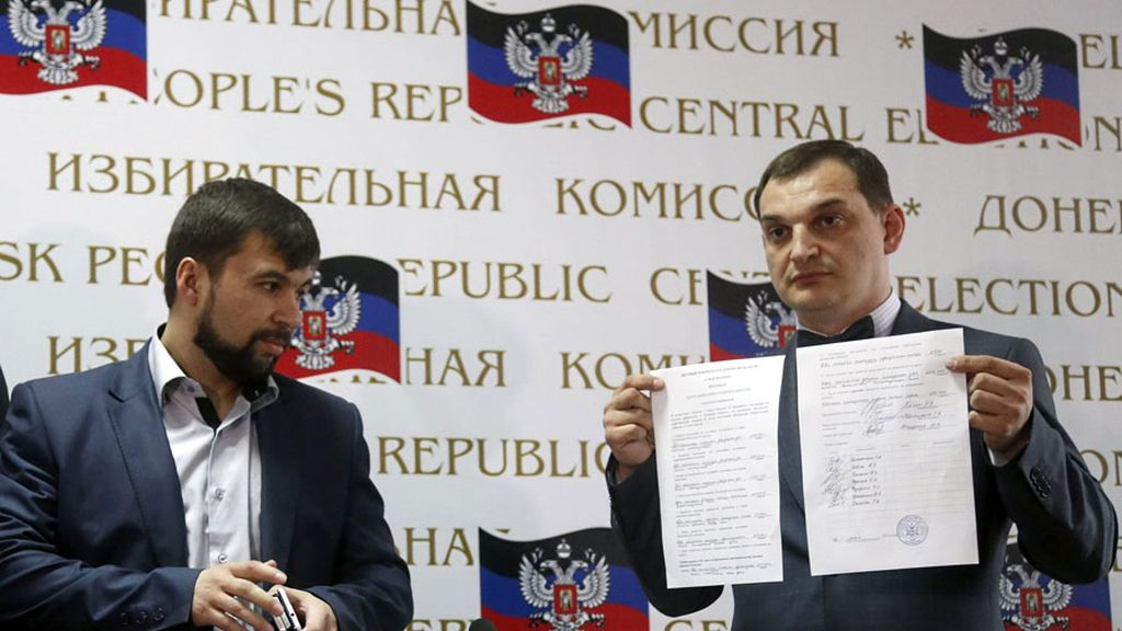 Prorrusos crearán órganos estatales y militares en Donetsk tras el referéndum