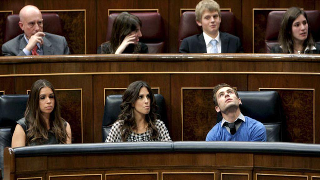 La actriz Elena Furiase, la cantante Nuria Fergó y el piloto Álvaro Bautista