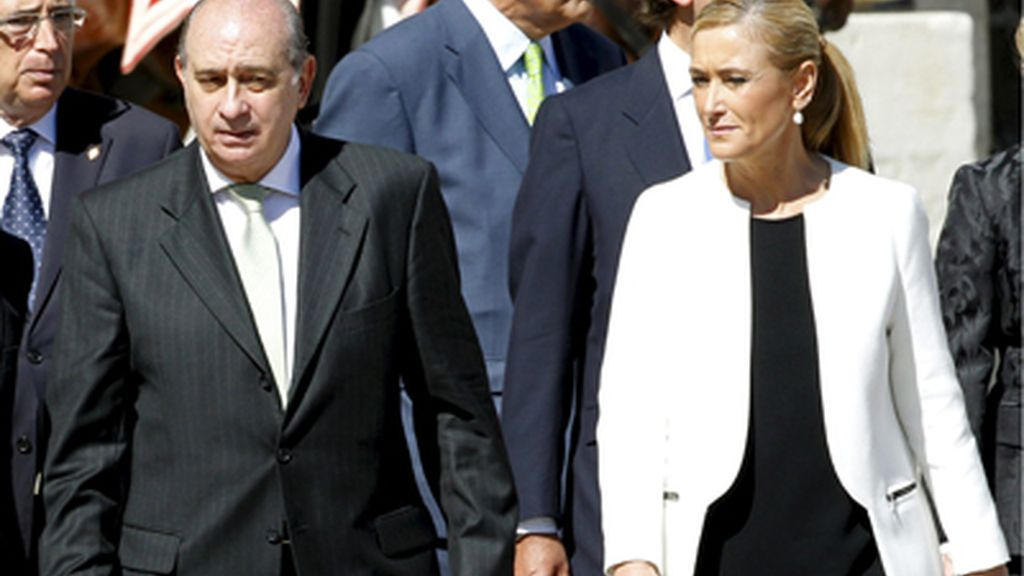 Jorge Fernández Díaz, Ministro del Interior y Cristina Cifuentes, delegada del Gobierno en Madrid