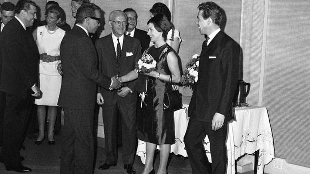 Mario Moreno con la Princesa Margarita en Hollywood en 1965