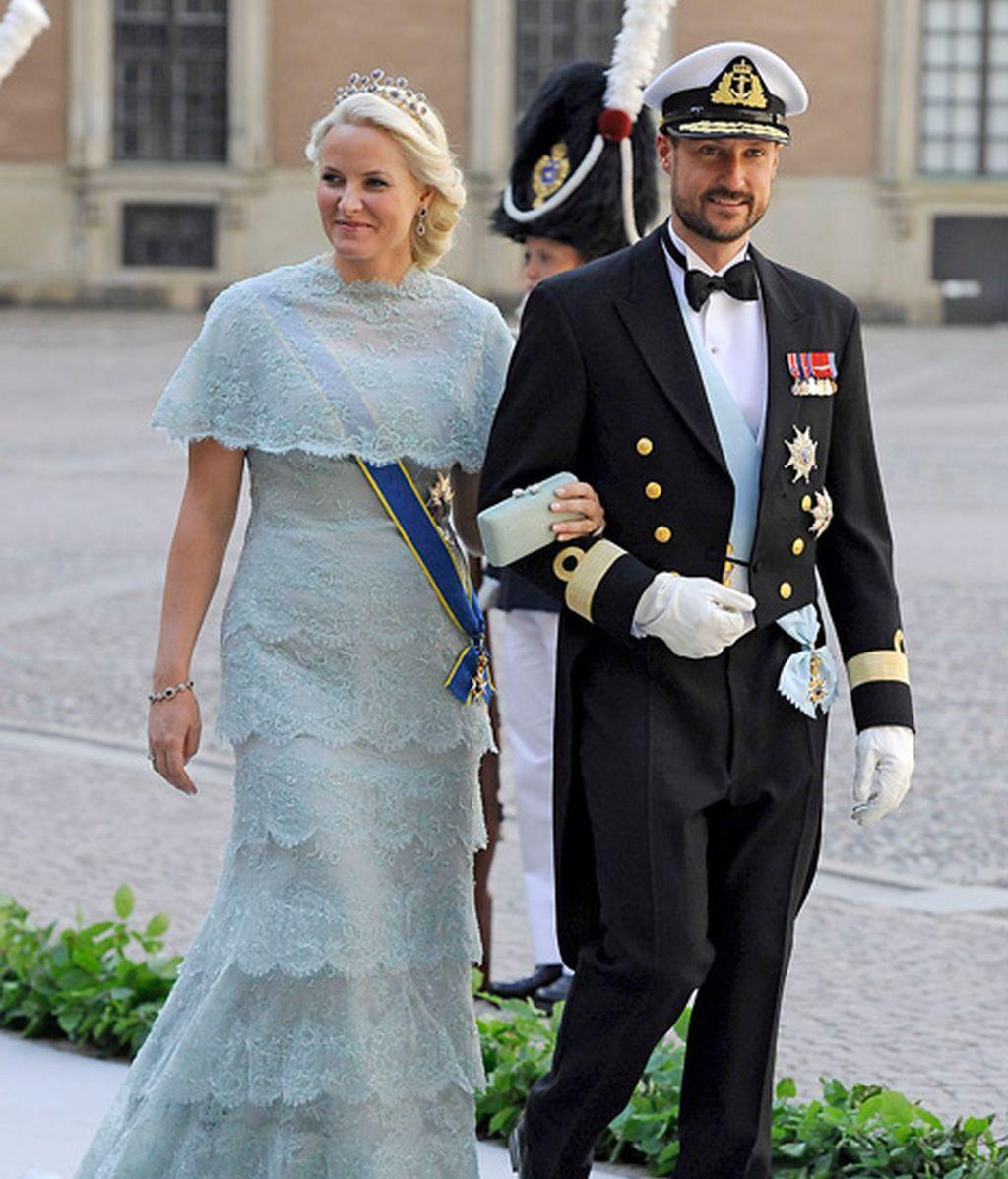 La princesa Mette-Marit y Haakon de Noruega