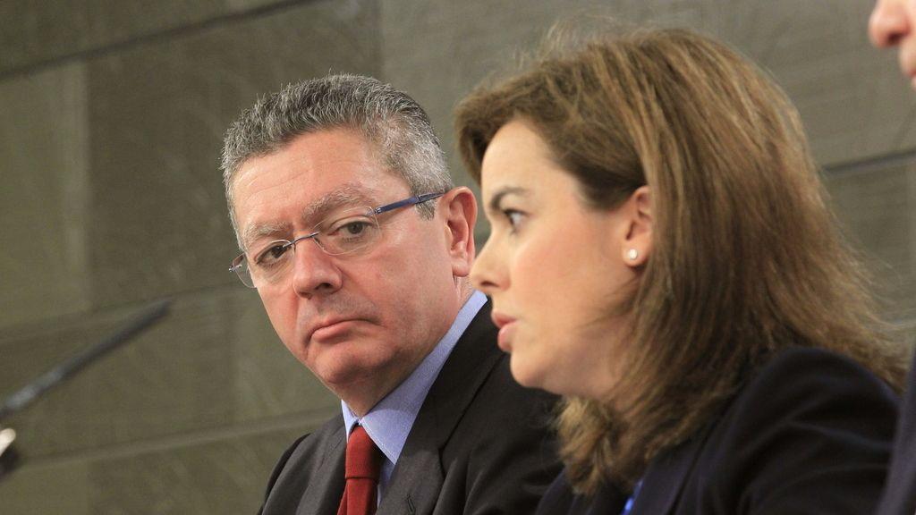 Soraya Sáenz de Santamaría y Alberto Ruiz Gallardón