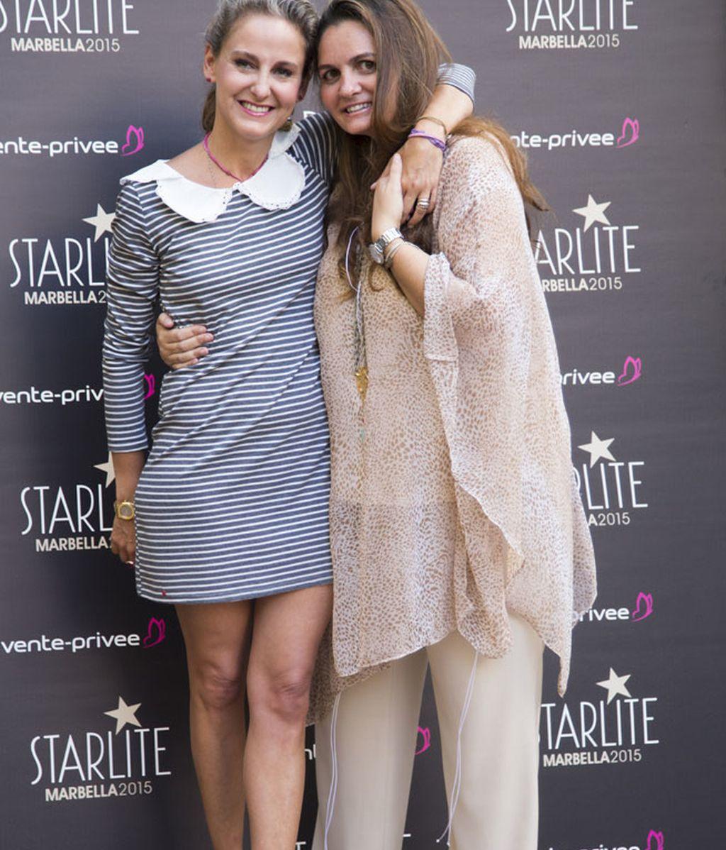 Carla Royo Villanova con la co-fundadora de Starlite, G.San Juán