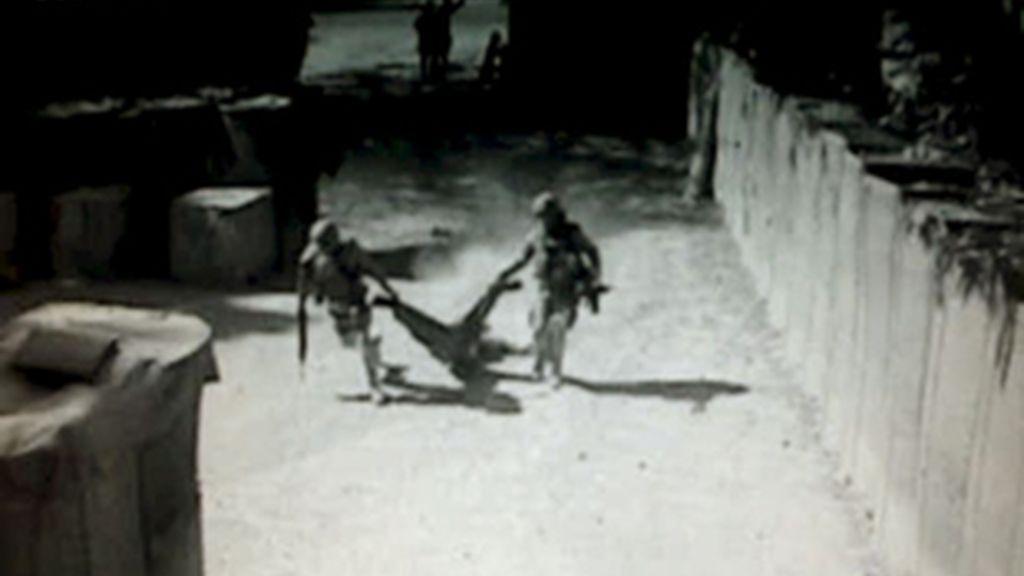 Primeras imágenes del atentado sufrido por los soldados españoles. Foto: EFE