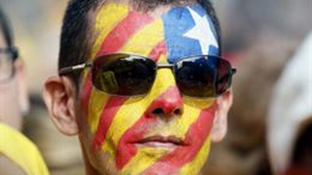 La UEFA expedienta al FC Barcelona por las banderas esteladas en la final de la 'Champions'