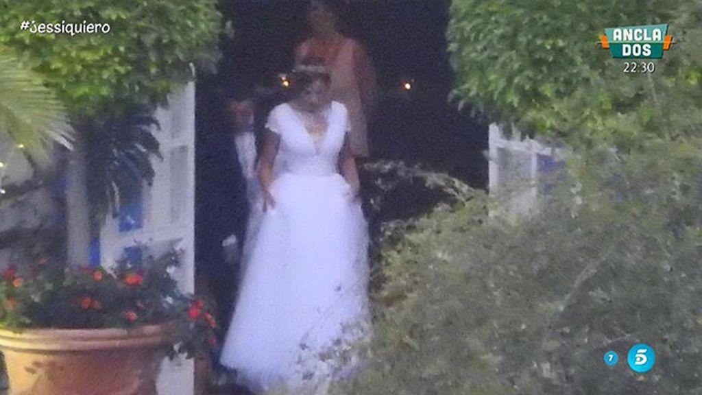 La modelo y el futbolista celebraban el enlace en una finca en Marbella