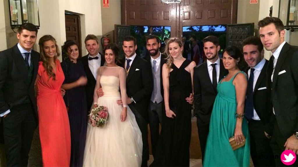 Arbeloa fue el único 'veterano' en la boda de Nacho Fernández