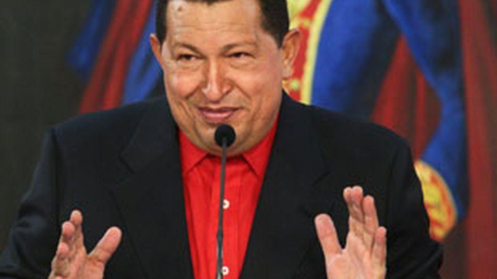 El presidente venezolano, Hugo Chávez, durante un acto oficial. Foto: EFE.