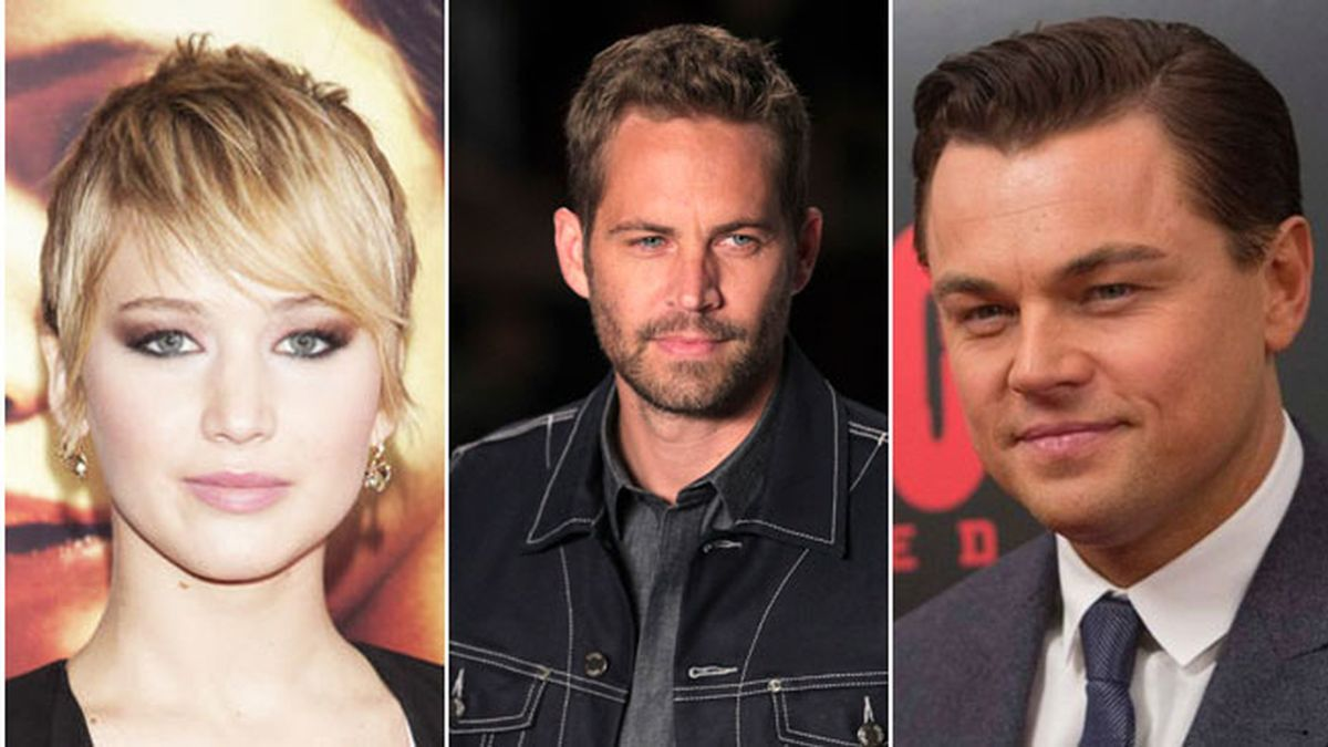 Jennifer Lawrence, Paul Walker o Leonardo Dicaprio, lideran la lista de las estrellas del año
