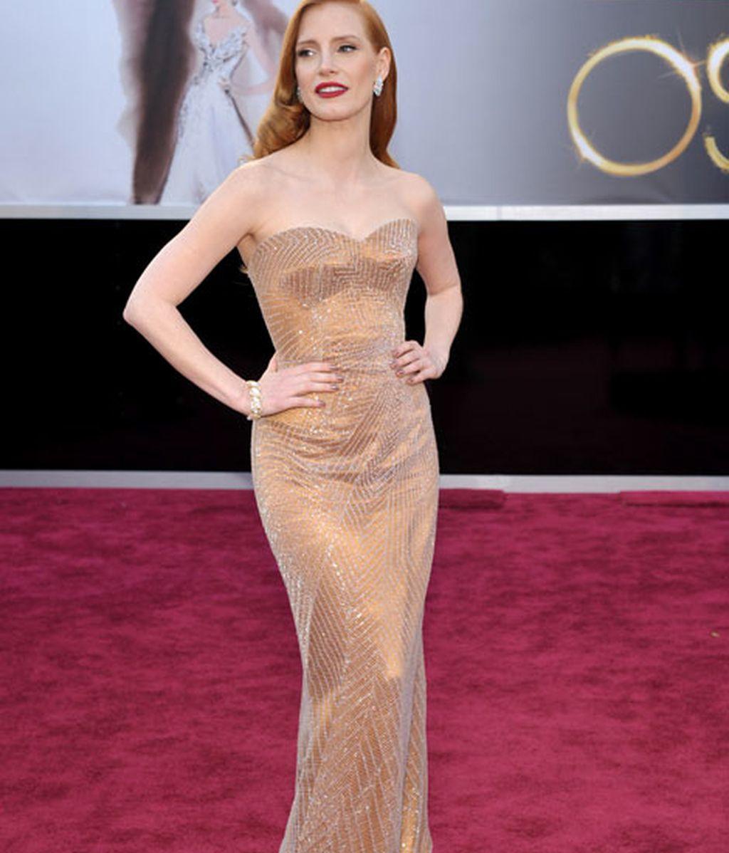 Jessica Chastain en los Oscar de este año