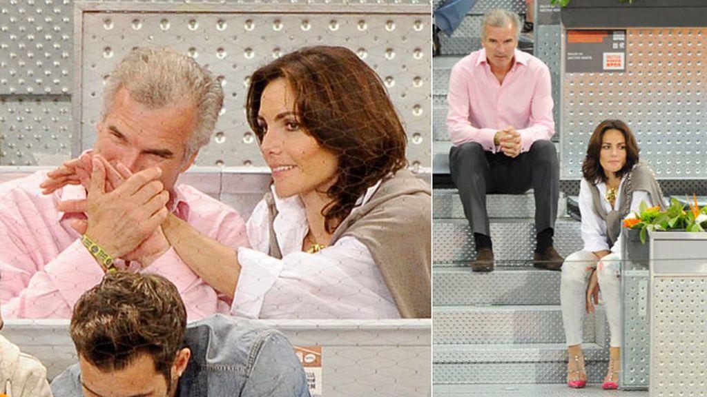Adriana Abascal y su caballero, Emmanuel Schreder