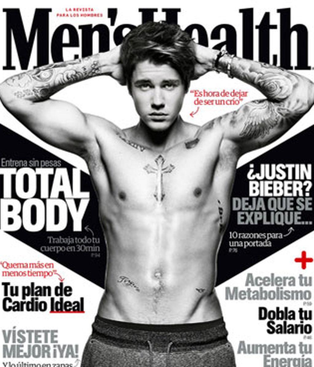 Justin Bieber luce abdominales