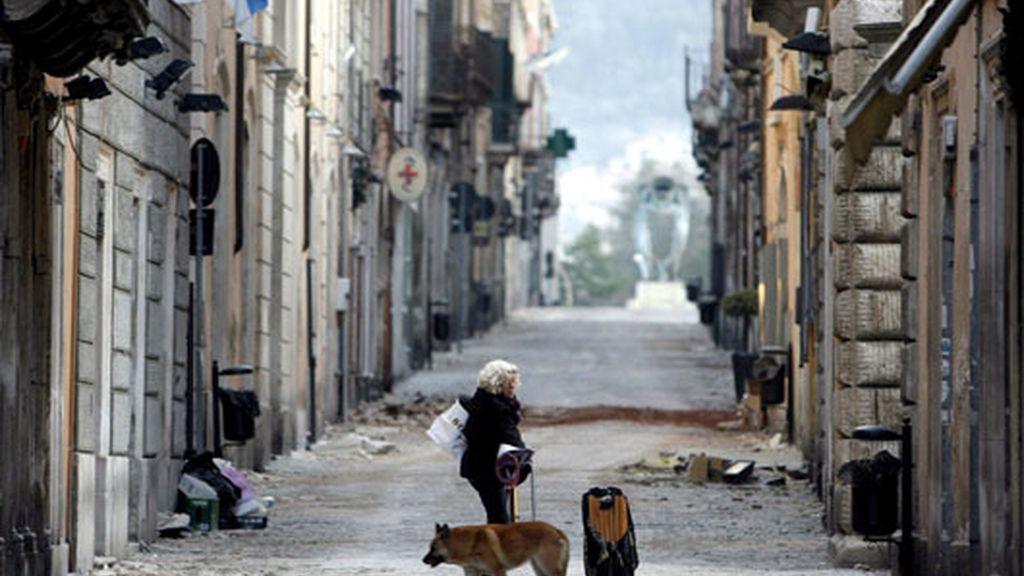 Las calles vacías en italia