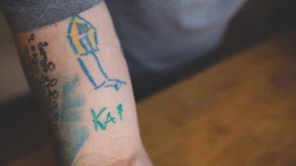 Kai creó el primer dibujó para su padre cuando tenía 4 años