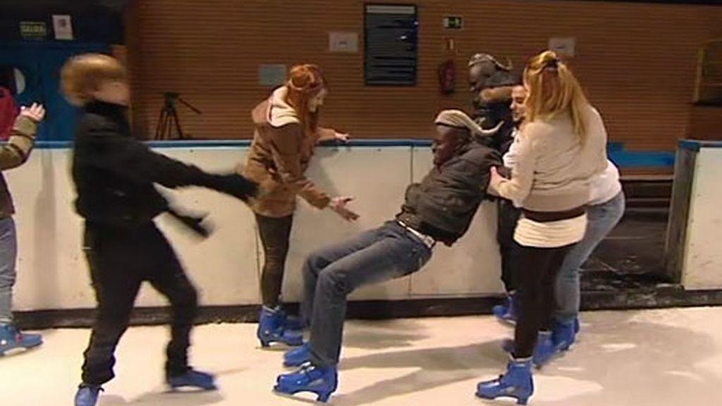 Tarde patinando sobre hielo
