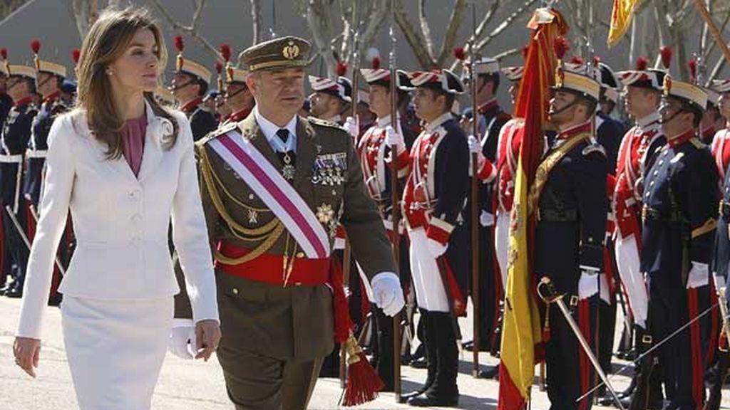 La Princesa, con la unidad militar