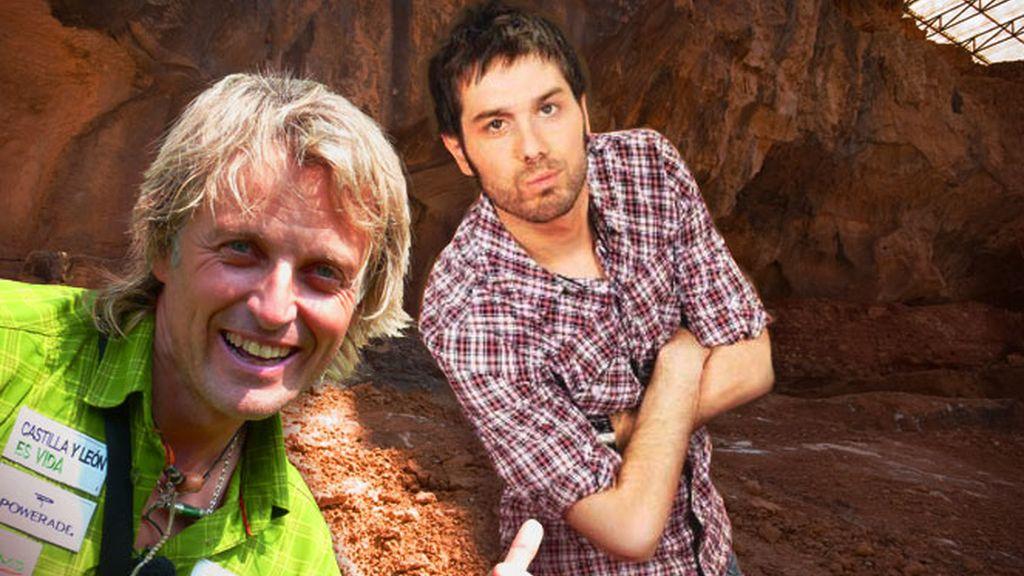 Jesús Calleja y Dani Martínez en Atapuerca