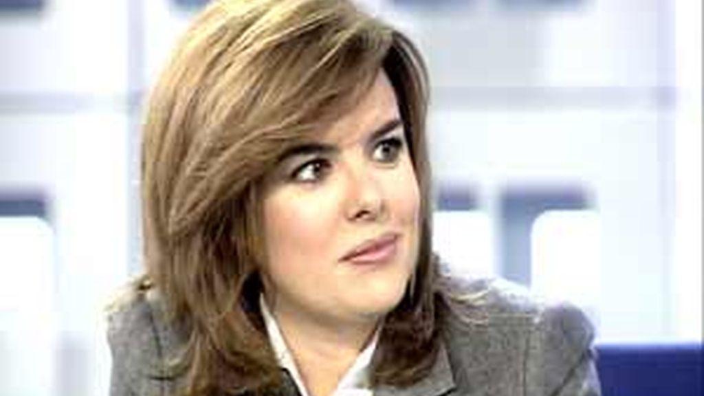 La portavoz popular en el Congreso de los Diputados, Soraya Sáenz de Santamaría, en La Mirada Crítica