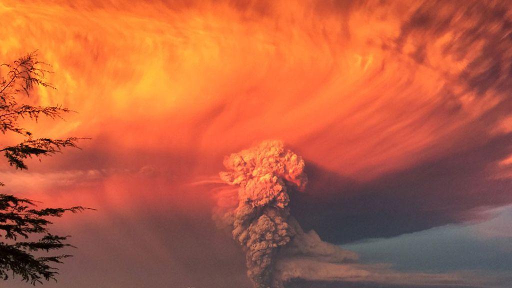 La erupción del volcán Calbuco en Chile