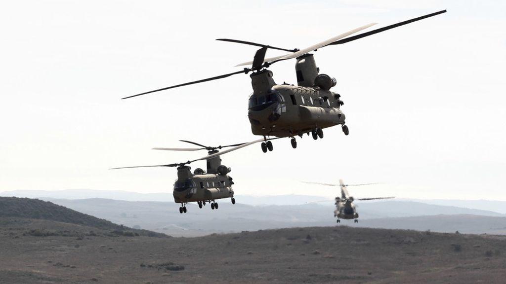 Aeronaves en las maniobras celebradas por la OTAN en Zaragoza