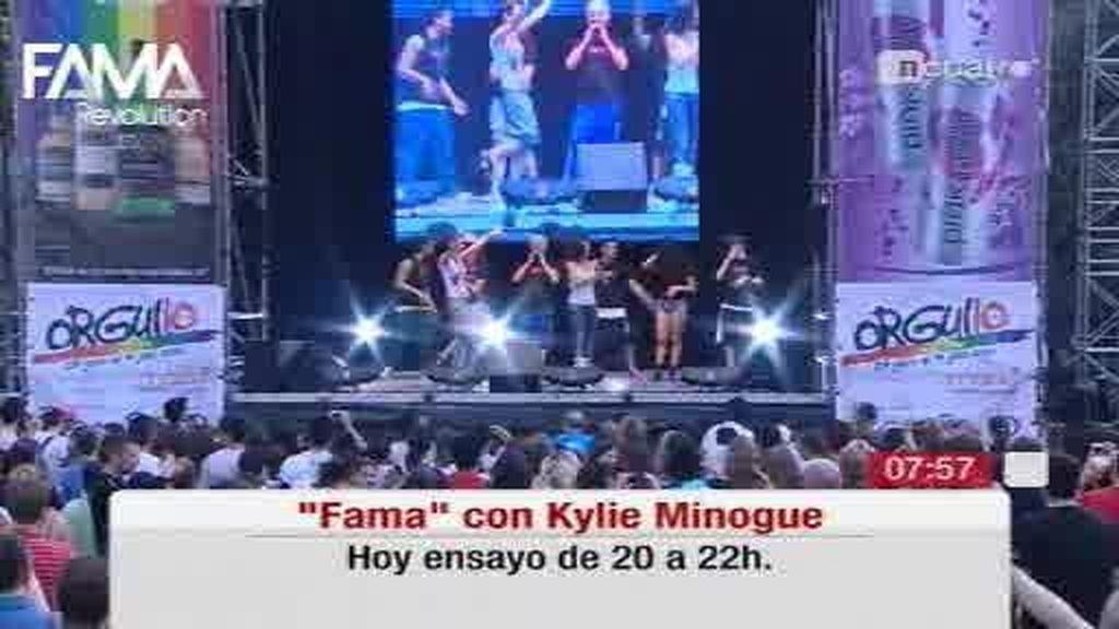 Matinal Cuatro se hace eco del éxito del ensayo del flashmob de Fama para Kylie