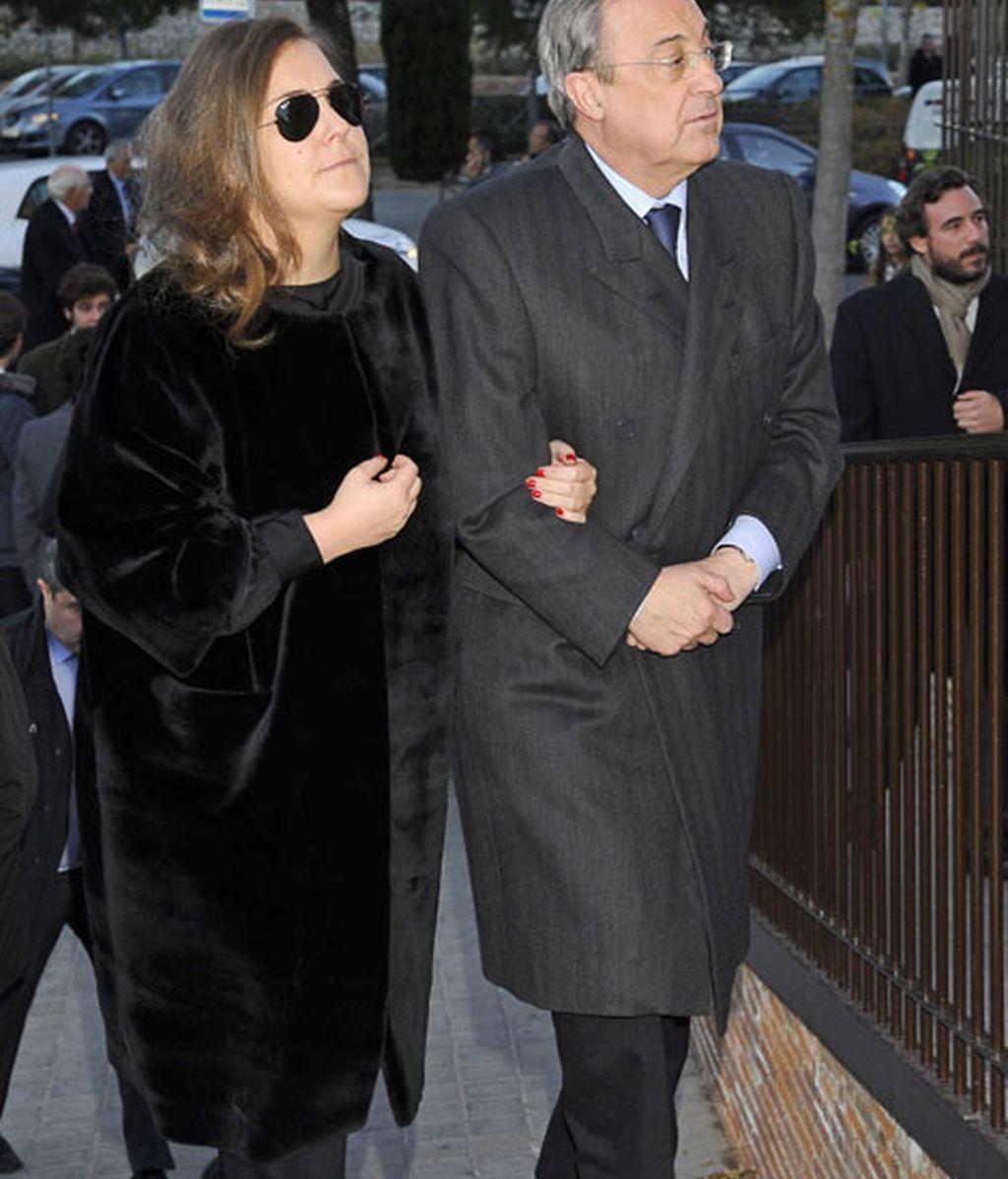 Florentino Pérez con su hija, María Ángeles Pérez