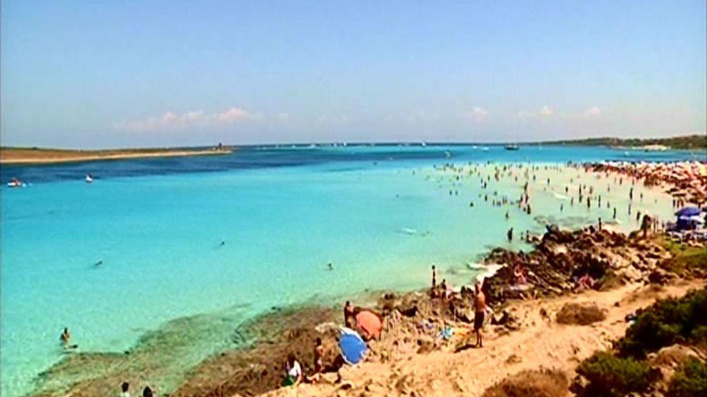 Playa en la isla