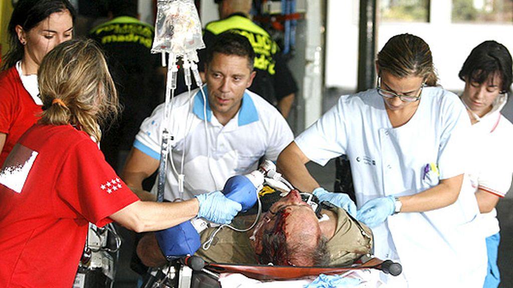 La llegada de los heridos