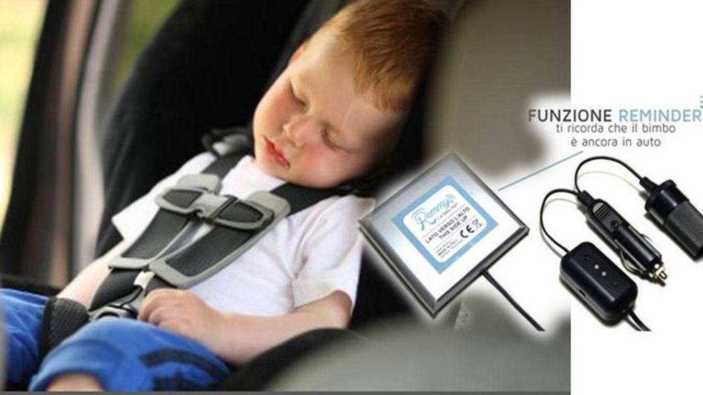 Remmy, olvida niño en coche,niños deshidratados en coche,peligros de niños en coche,invento italiano seguridad niños en coche