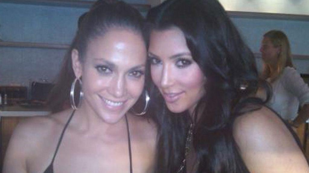 Jennifer López en el Twitter de Kim Kardashian