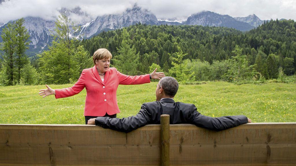 Merkel y Obama, en la Cumbre del G8