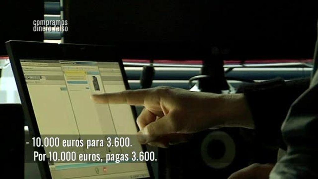 Diario de compra billetes falsos