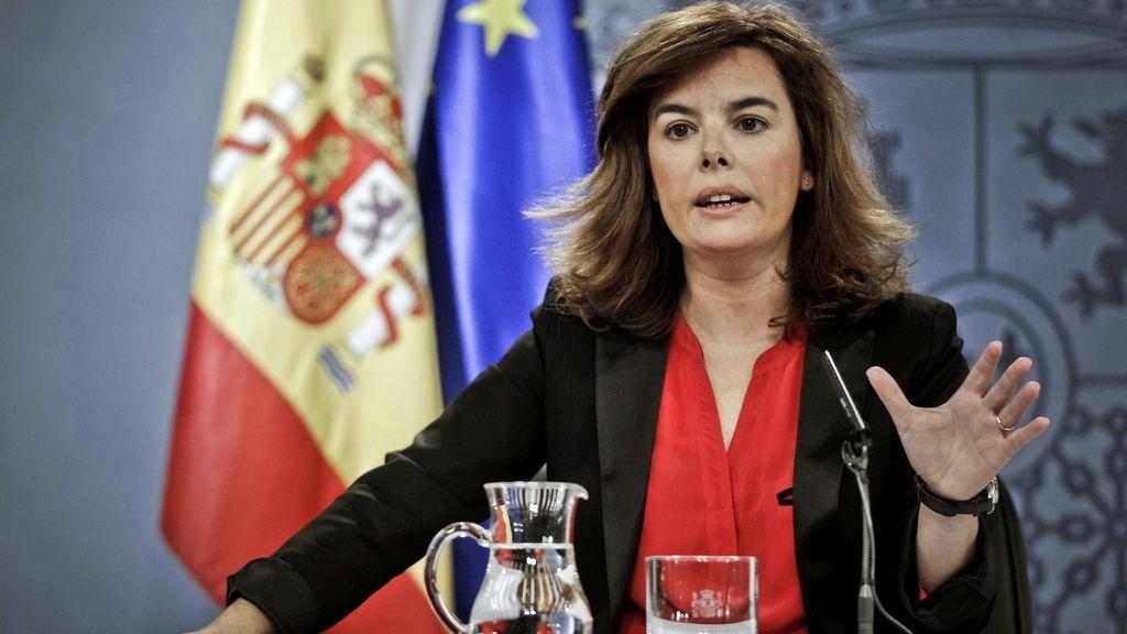 La vicepresidenta del Gobierno, Soraya Sáenz de Santamaría