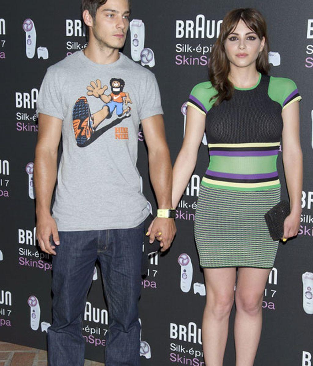 Andrea Duro y su pareja, Joel Bosqued