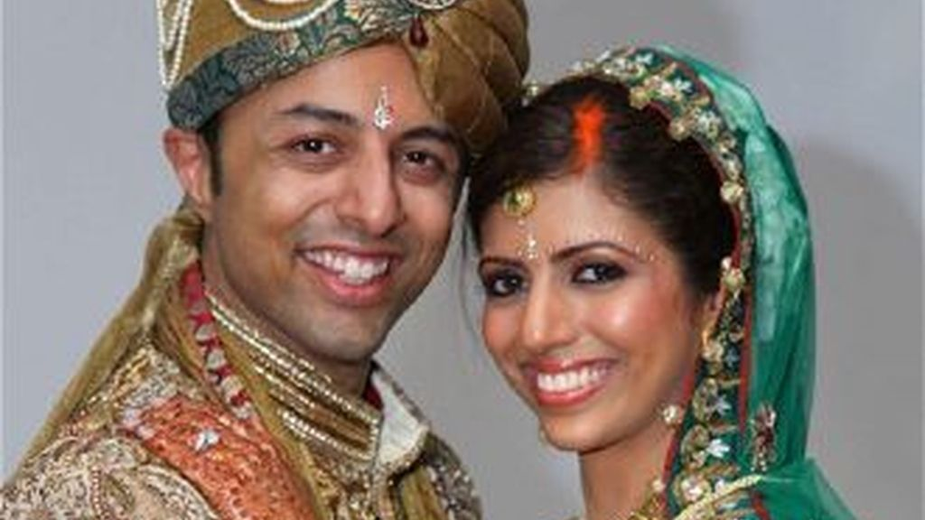 Shrien Dewani y su esposa Anni el día de su boda.