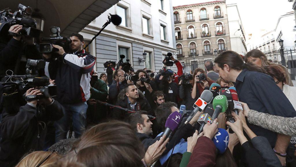 Pablo Iglesias valora el discurso de investidura de Pedro Sánchez